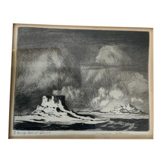 1920s George Elbert Burr Signed Etching Print For Sale