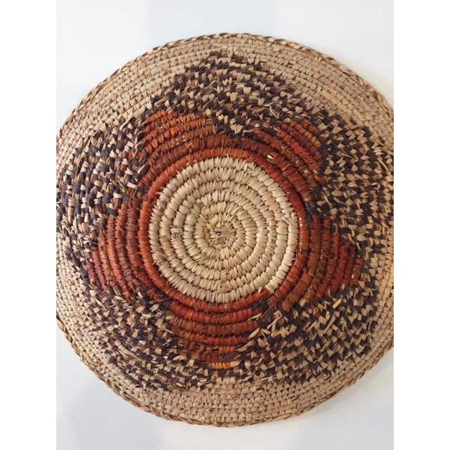 Vintage Native American Style Coil Basket - Image 4 of 8