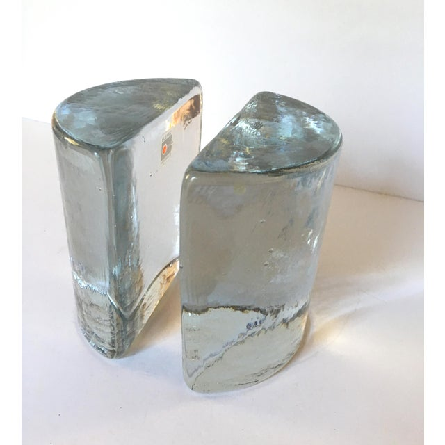 Contemporary Iconic Blenko Half Moon Bookends For Sale - Image 3 of 6
