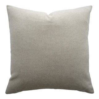 FirmaMenta Italian Solid Beige Sustainable Wool Pillow For Sale