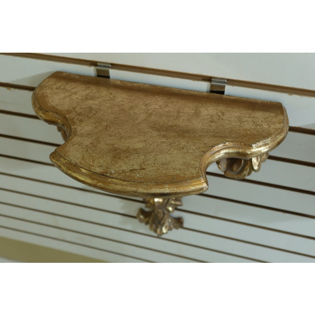 1990s Carved Italian Style Wall Shelves - a Pair For Sale - Image 5 of 7