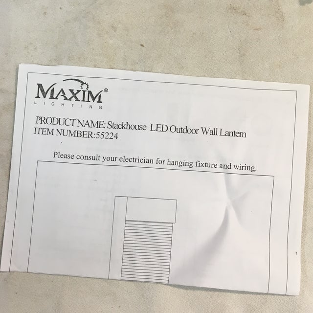Maxim Lighting Geometric Waterfall Led Outdoor Wall Sconce For Sale - Image 10 of 12