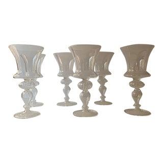 1950s Vietri Murano Italian Wine Glasses - Set of 6 For Sale