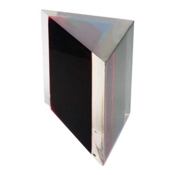 Acrylic Rainbow Triangular Sculpture by Dennis Byng For Sale