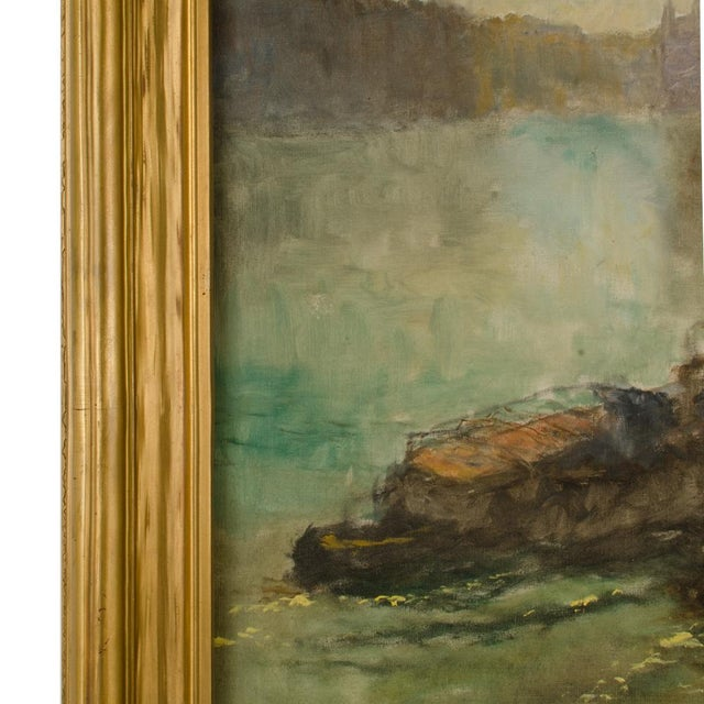 "Early 20th Century ""Towboat"" Nautical Oil Painting by Pal Fried, Framed For Sale - Image 9 of 12"