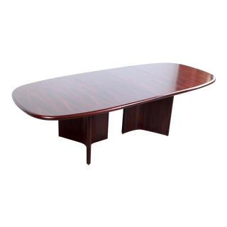 Mid Century Danish Modern Rosewood Dining Table by Uldum Mobelfabrik For Sale