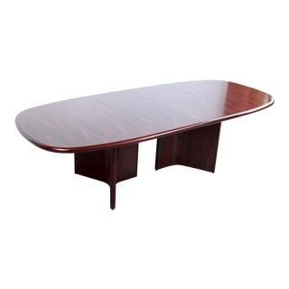 Mid Century Danish Modern Rosewood Dining Table by Uldum Mobelfabrik For Sale