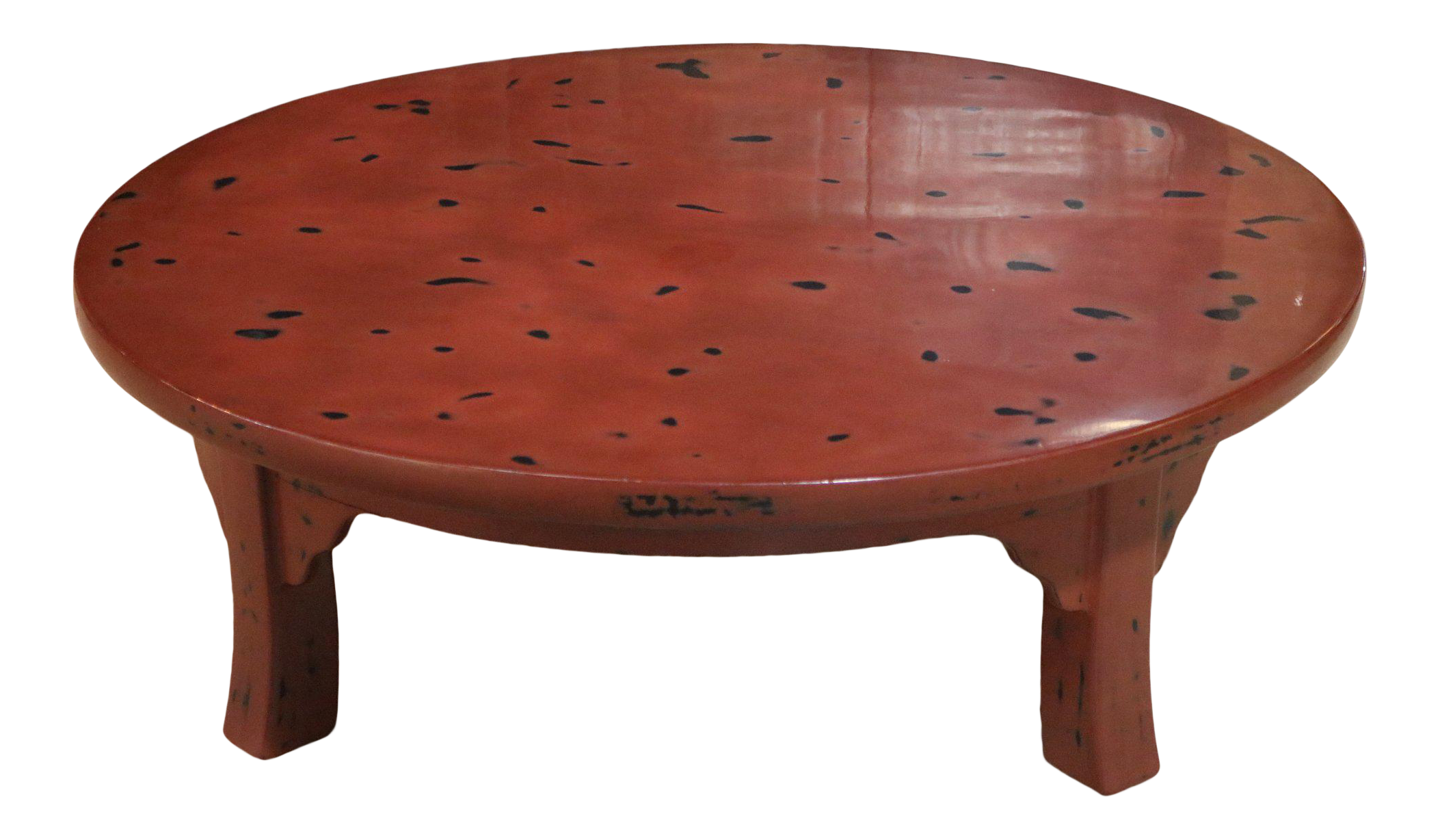 Red Lacquer Round Table