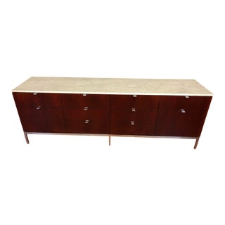Florence Knoll Four Position Credenza With Marble Top For Sale