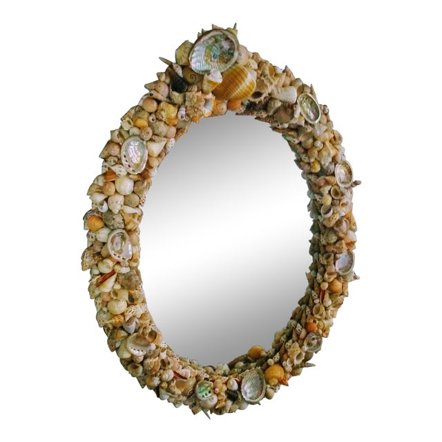 Grotto Style Shell Mirror For Sale
