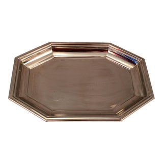 Vintage Jean Couzon French Stainless Steel Tray For Sale