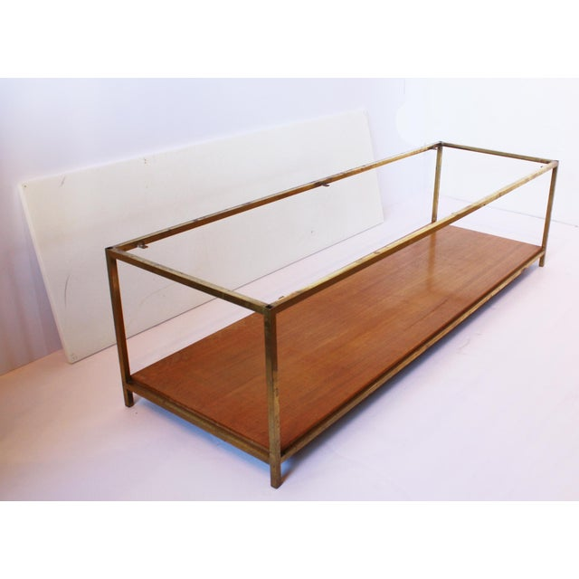 Mid-Century Modern Mid-Century Bronze and Vitrolite Coffee Table by Paul McCobb For Sale - Image 3 of 5