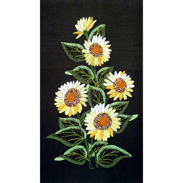Vintage Sunflowers Original Needlepoint Art - Image 8 of 8