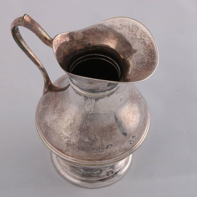German Sterling Silver Georgian Style Pitcher 9.4 Toz Darmstadt, 19th Century For Sale - Image 10 of 13