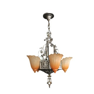 1920 'S American Lincoln Chandelier For Sale