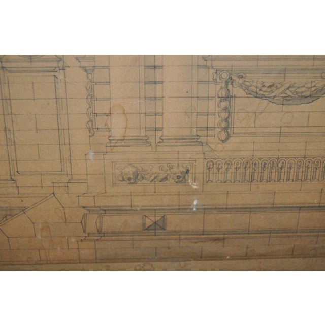 Tan 18th/19th Century Master Architectural Drawings For Sale - Image 8 of 11