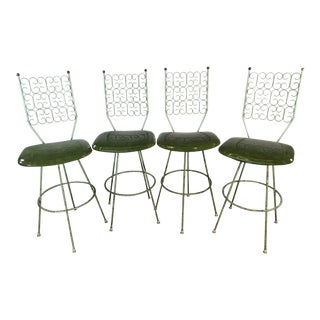 Arthur Umanoff Bar Stools by Boyeur Scott Furniture Co Granada Collection For Sale