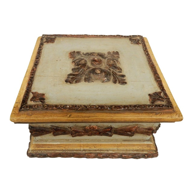 19th C. Italian Painted Box For Sale