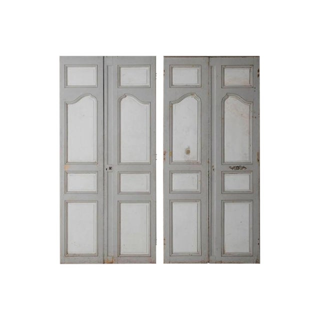 18th and 19th Century French Pair of Louis XV Double Doors in Original Paint For Sale