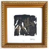 Image of Modern Contemporary Abstract Acrylic Painting With Vintage Frame by Gladys Tay For Sale