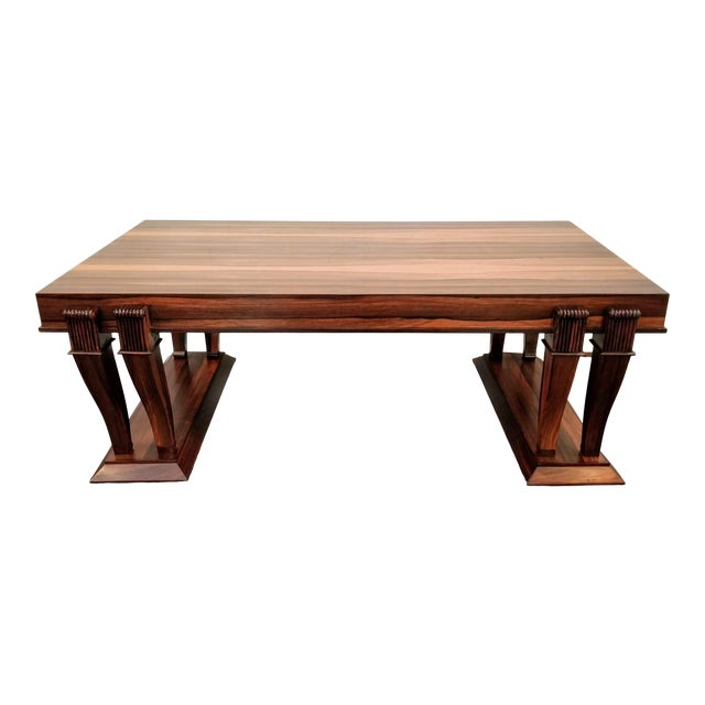 Traditional Style Bolivian Rosewood Coffee Table For Sale