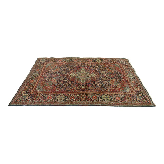 Antique Persian Oriental Handwoven Rug - 4'5'' X 6'6'' For Sale