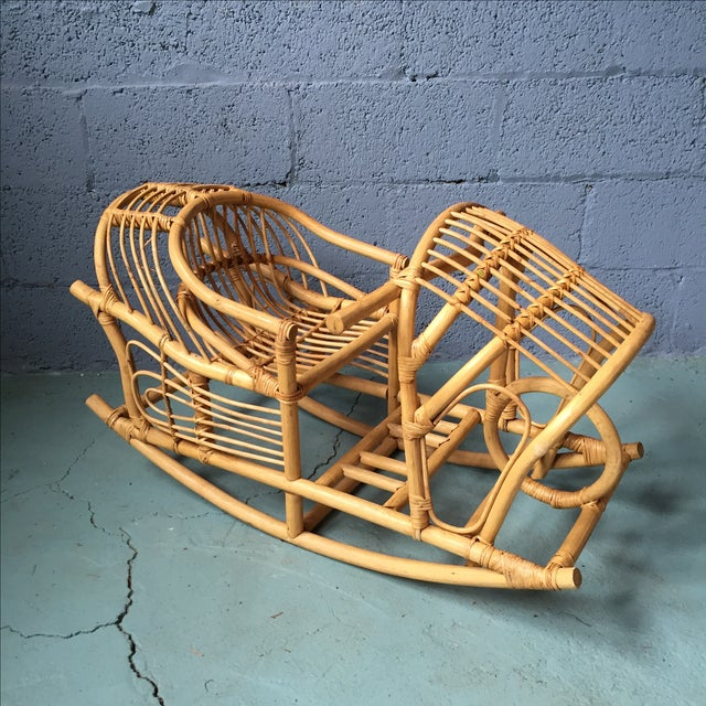 Vintage Child's Rattan Rocking Toy - Image 2 of 11