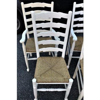 Late 20th Century Country French Style Ladderback Chairs- Set of 6 Preview