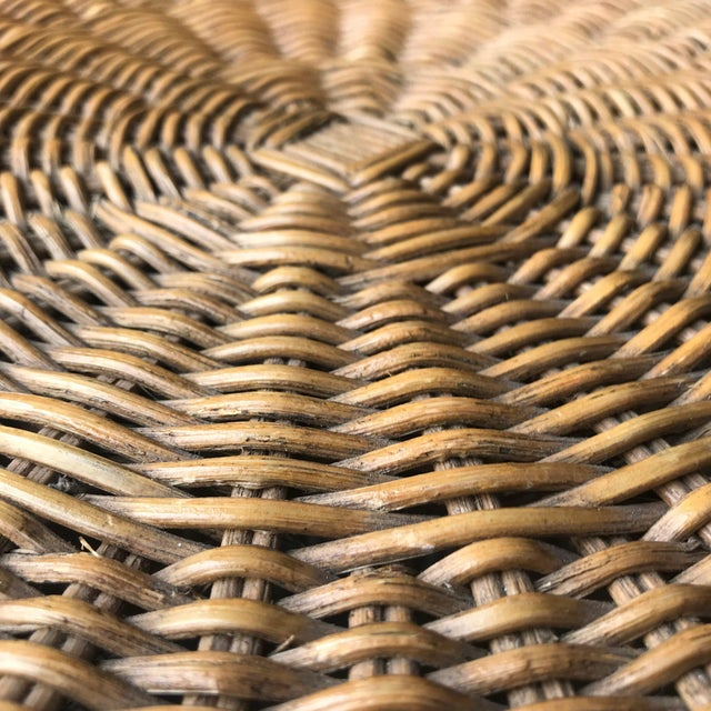 Wood Late 20th Century Rattan Side Table For Sale - Image 7 of 10