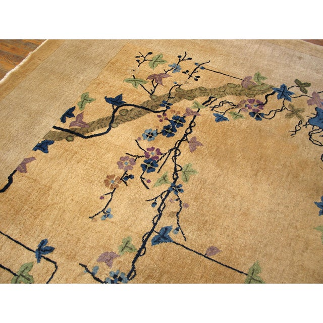 "1920s Antique Chinese Art Deco Rug 9'0"" X 14'6"" For Sale - Image 5 of 9"