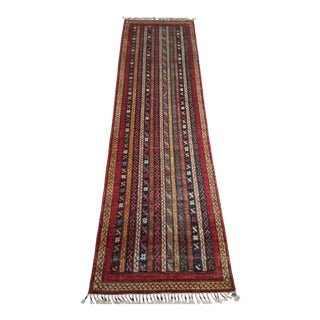 Late 20th Century Persian Gabbhe Runner-2′7″ × 9′2″ For Sale