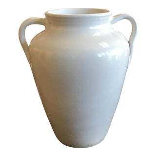 Large White Ceramic Urn For Sale
