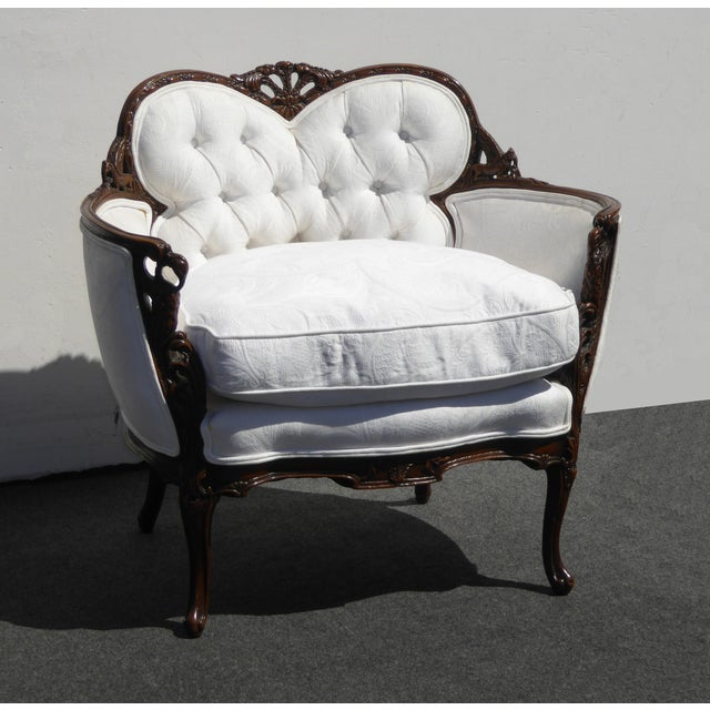 White French Rococo Ornate Chair For Sale In Los Angeles - Image 6 of 11