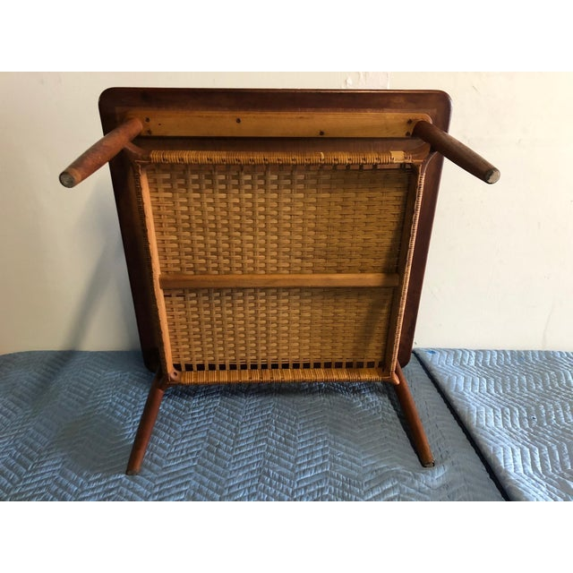 Mid 20th Century Mid-Century Modern Johannes Andersen Rattan Shelf Coffee Table For Sale - Image 5 of 7
