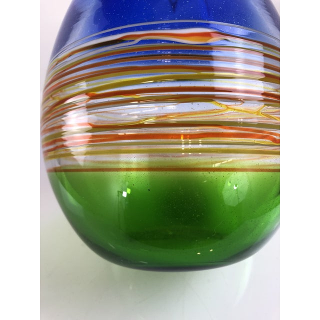 1960s Vintage Gino Cenedese Murano Vase For Sale - Image 9 of 13