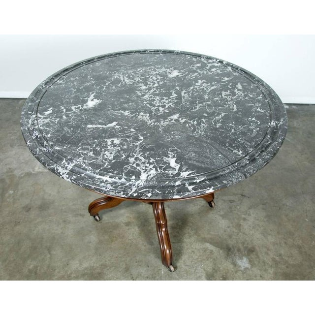 Mid 19th Century French Louis Philippe Period Marble Top Gueridon Table For Sale - Image 5 of 9
