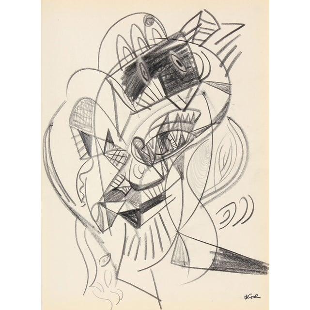 Cubist Graphite Portrait by Michael di Cosola - Image 1 of 2