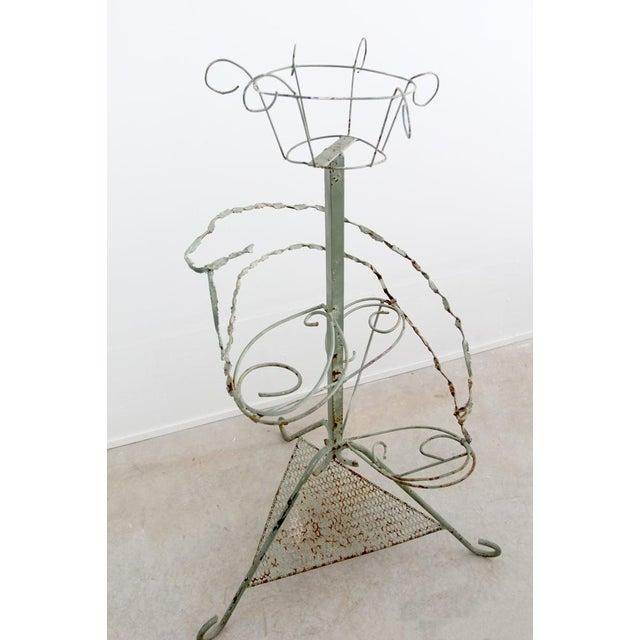 Vintage Metal Plant Stand Riser - Image 3 of 10