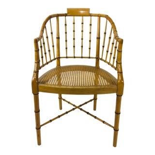 1970s Vintage Baker Furniture Company Regency Style Desk Chair For Sale