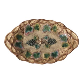 Italian Majolica Grape Plate