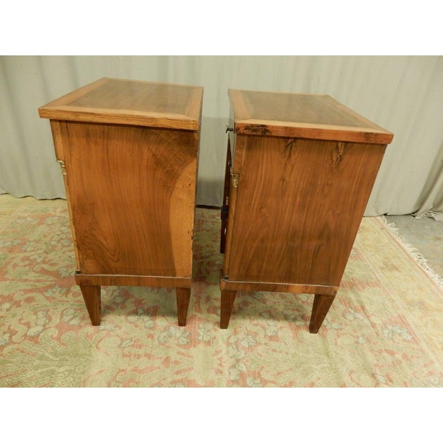 Pair of French Empire Walnut Bedside Cabinets For Sale - Image 4 of 11