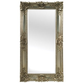 Mayfair Vintage Champagne Gold Full Length Leaner Mirror For Sale