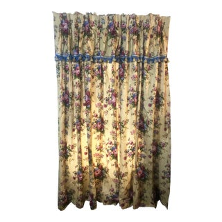 Vintage Handmade Lined Drapes - a Pair- Heavy! For Sale