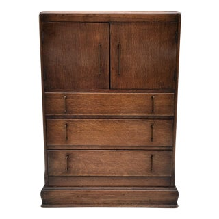 1930's Art Deco Wood Cabinet Bar For Sale