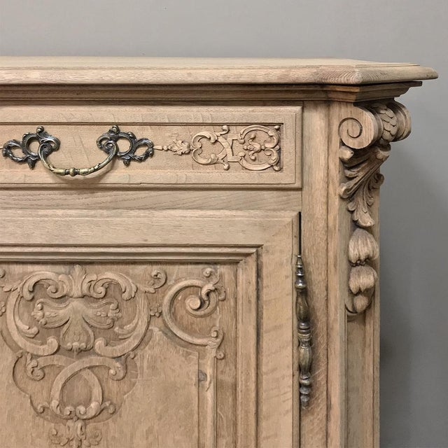 19th Century Country French Regence Stripped Oak Buffet For Sale - Image 10 of 13