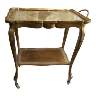 Florentine Bar Cart Made in Italy For Sale