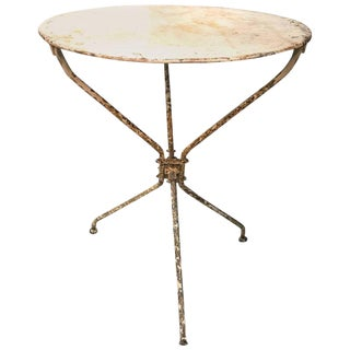 1920 French Iron Bistro Table