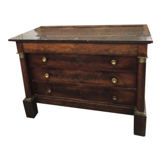 19th. Cent. French Empire Mahogany Commode
