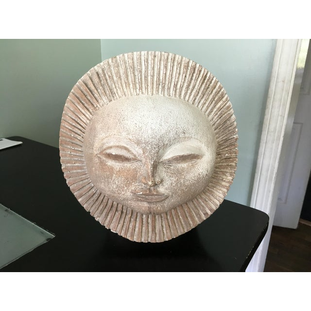 1969 plaster sun sculpture by Paul Bellardo for Austin Productions Shipping fee includes professional packing and shipping...
