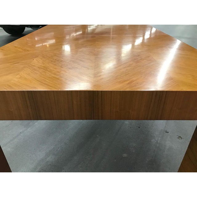 Mid-20th Century Milo Baughman / Thayer Coggin Burl Dining Table For Sale - Image 9 of 12